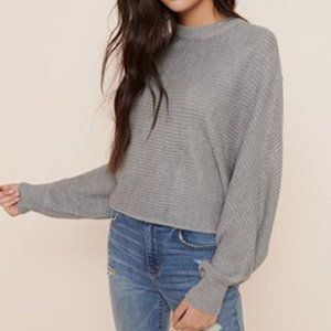 Ribbed Dolman Sleeve Sweater